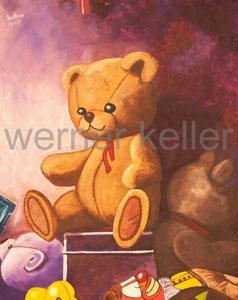 Teddy IOriginal: Öl auf Hartfaser, 50x60 cm, 950 €  • Druck auf Leinwand: 100 €