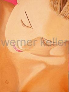 verträumter Blick - Original: Öl auf Leinwand, 60x80 cm, unverkäuflich