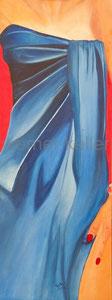 Wickelkleid - Original: Öl auf Hartfaser, 48x125 cm