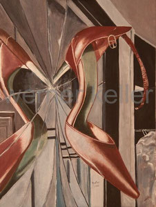 mirror - Original: Öl auf Leinwand, 60x80 cm