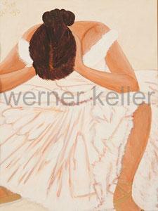 Ballerina II - Original: Öl auf Karton, 23x32 cm, 400 € • Druck auf Leinwand : 90 €
