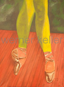 Ballettschuhe - Öl auf Leinwand, 60x80 cm