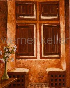 Lichtfenster - Original: Öl auf Leinwand, 50x60 cm