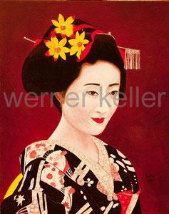 Geisha - Öl auf Leinwand, 50x60 cm, 1.050 €   • Druck auf Leinwand: 100 €