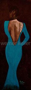 Perlenkette III- Original: Acryl auf Hartfaser, 18x40 cm, 280 € • Druck auf Leinwand: 90 €