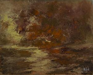 Phönix Vogel,  Öl Leinwand 40x50