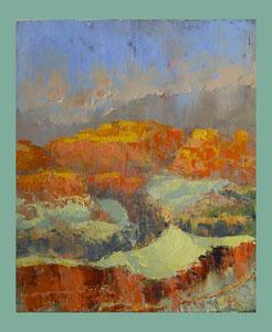 Mountains, 40x50 oil on Canvas