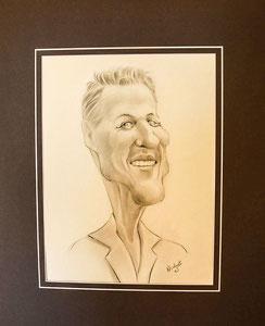 Schumacher, Formel 1, Michael Schumacher Karikatur