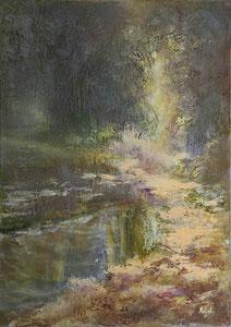 Waldfee, Öl auf Leinen, 50x70.