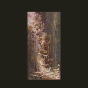 80x40 cm Acryl auf Leinwand. Verborgenes Leben