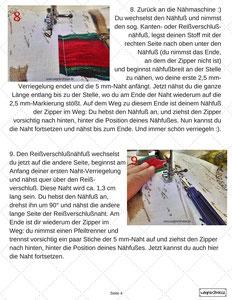 Seite 4 Reißverschluß einnähen