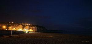 Plage de Dieppe la nuit (Haute Normandie - France - Juin 2012)