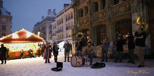 Fanfare au Marché de Noël - Noël 2010 - Rouen - Seine Maritime - Haute Normandie - France