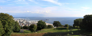 Le Havre vu des jardins suspendus (Juillet 2011)