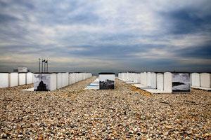 Les cabanes de la plage au Havre - Haute Normandie - France - (Juillet 2011)