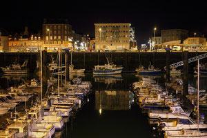 Le Port de Dieppe la nuit (Haute Normandie - France - Juin 2012)