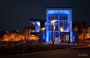 Office de tourisme illuminé de Dieppe (Haute Normandie - France - Juin 2012)