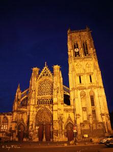 Eglise St Jacques de Dieppe la nuit (Haute Normandie - France - Juin 2012)