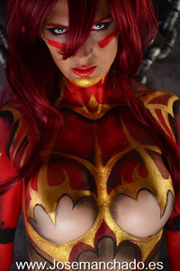 cosplay elyuin, bodypaint elyuin, age of storm, bodypaint, Cosplay, Character, Korean MMO, AOS, Kingdom Under Fire: Age of Storm , hentai, cosplay hentai, MMORPG, MMO news