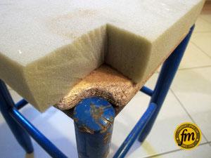 Mousse d'ancienne chaise