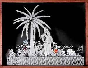Papercut personalizadas. Regalo para Aniversario de Macarena y Javier