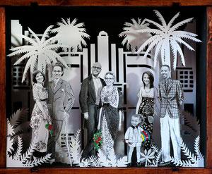 Papercut personalizado. Miami Art Decó