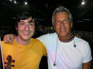 Fabrizio Riceputi e Claudio Baglioni Budapest live Baglioni