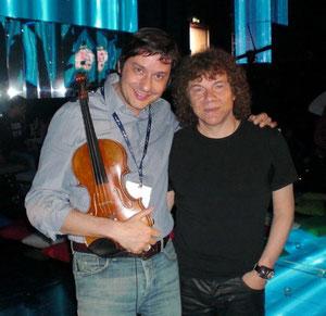 Fabrizio Riceputi e Riccardo Cocciante Sanremo 2009 Ti lacio una canzone