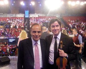 Bruno Vespa e Fabrizio RiceputiTi lascio una canzone 2010 Napoli