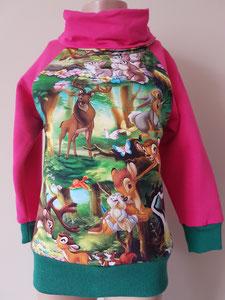 Voor: Sweater Bambi, maat 98/104 op voorraad