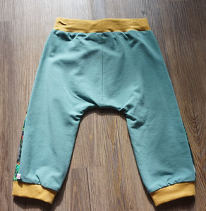Achter: Hagedissen, broekje van tricotstof