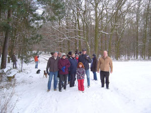 So stapften wir durch den tiefen Schnee.....