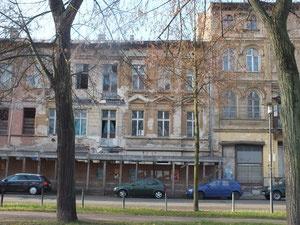 Verfallene Häuser in der Gubener Straße