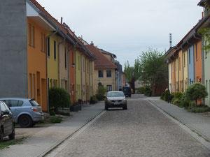 Wohnastraße im Citybereich