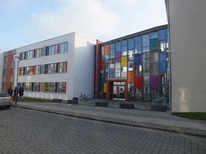 Gartenstraße, Ecke Paul-Feldner-Straße (VHS, Neubauteil)