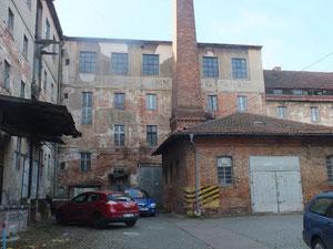 Verfakkene Fabrik in der Gubener Straße