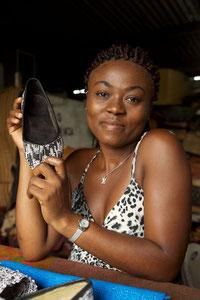 Vendeuse de chaussures