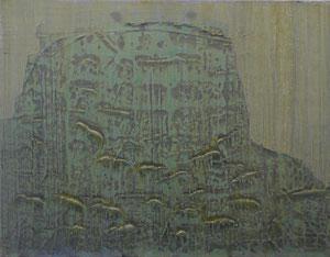 DD 2, 2014, Acryl/LW, 90 x 70 cm