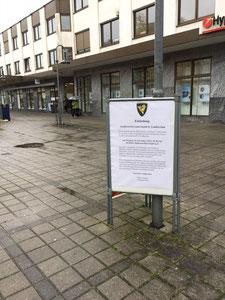 Die SPD stellte eigene Plakatständer in der Gemeinde auf