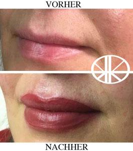 Lippenvollschattierung
