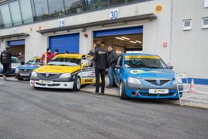 Pfister-Racing Team beim Saisonfinale 2017 ADAC Logan Cup mit 2 Autos am Start