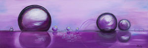 Bulles violettes (huile 90x30 cm) - Copyright Pascale Richert