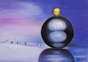 Grosse Bulle (huile 70x50 cm) - Copyright Pascale Richert