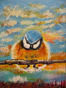 Titi (acrylique 30 x 40 cm)-Copyright Pascale Richert