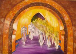 Anges (huile  60 x 40 cm )-Copyright Pascale Richert