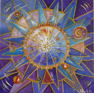 Mandala violet (Acrylique )-Copyright Pascale Richert