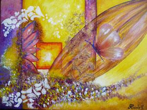 Papillon (acrylique 30 x 40 cm)-- Copyright Pascale Richert