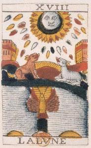 XVIII La Lune - Le Tarot de Jean Noblet