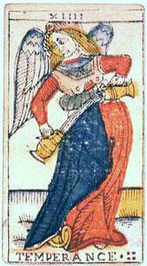 XIV Tempérance - Le Tarot de Jean Dodal