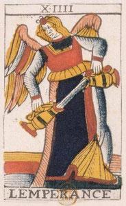 XIV Tempérance - Le Tarot de Jean Noblet